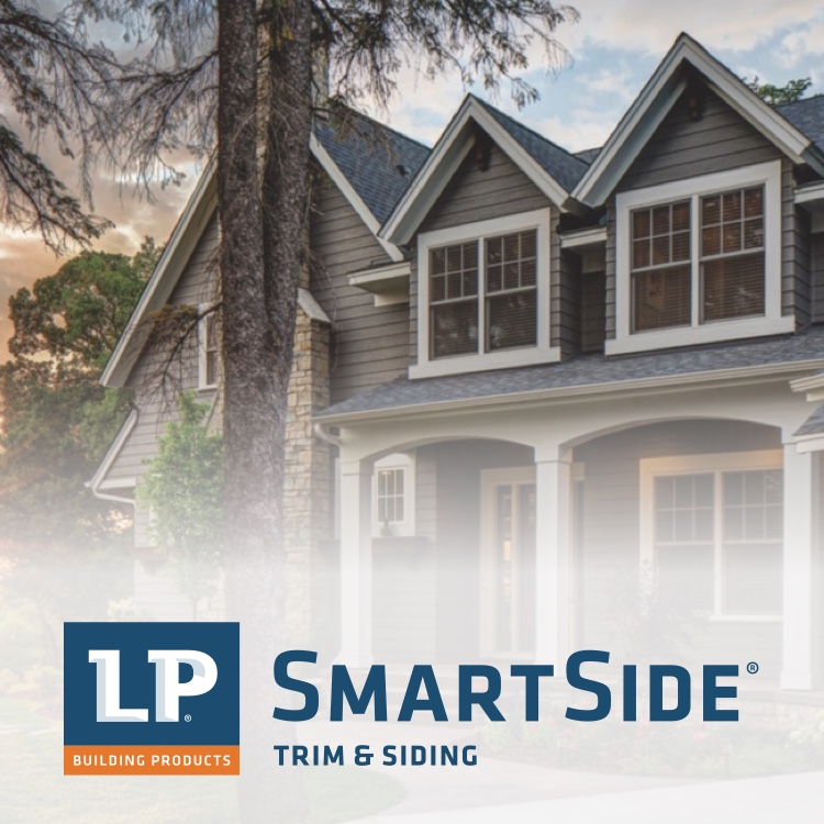 LP SmartSide Trim & Siding logo with modern house