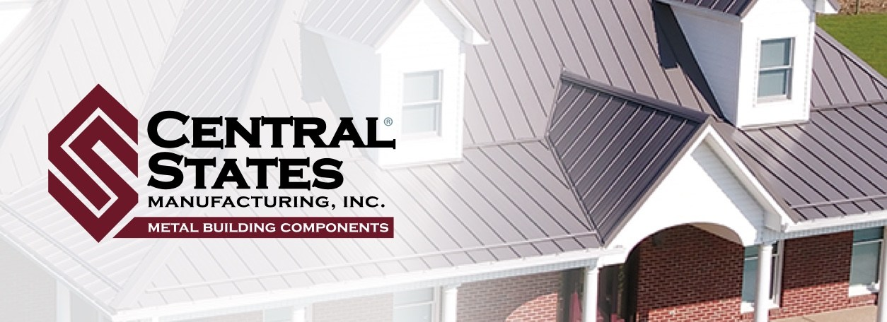 Central States Manufacturing, Inc. - Metal Building Components logo with metal-roofed house