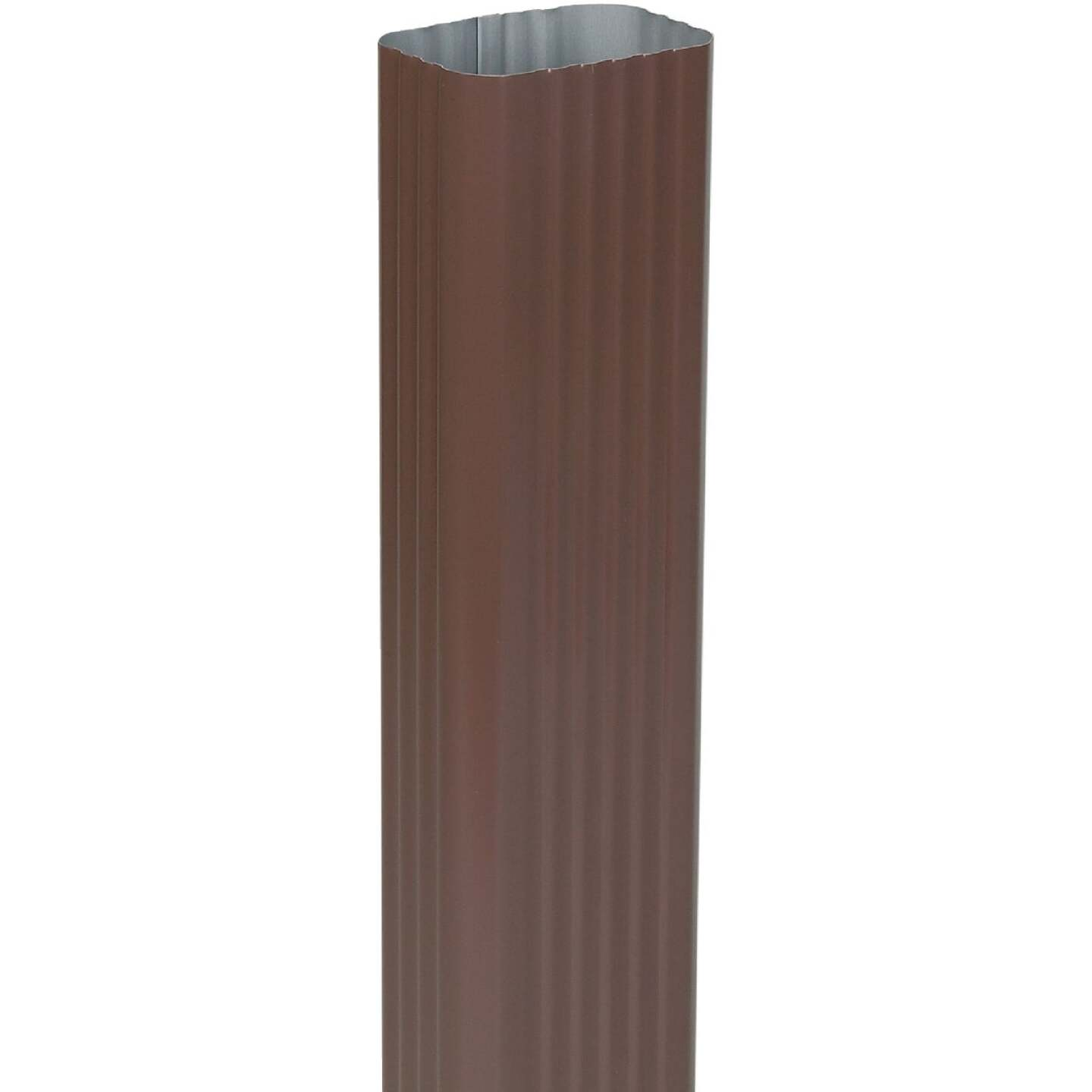 Spectra Metals 2 In. x 3 In. Brown Aluminum Downspout Image 1