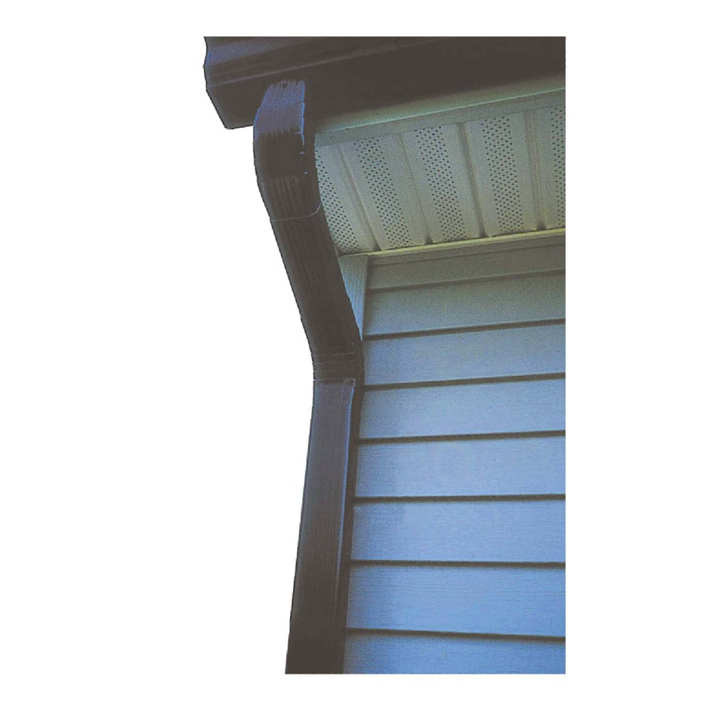Spectra Metals 2 In. x 3 In. Brown Aluminum Downspout Image 2