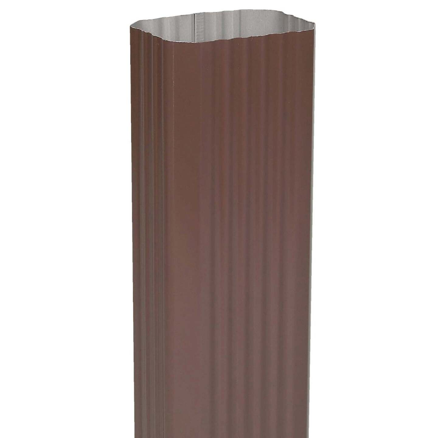 Spectra Metals 3 In. x 4 In. Brown Aluminum Downspout Image 1
