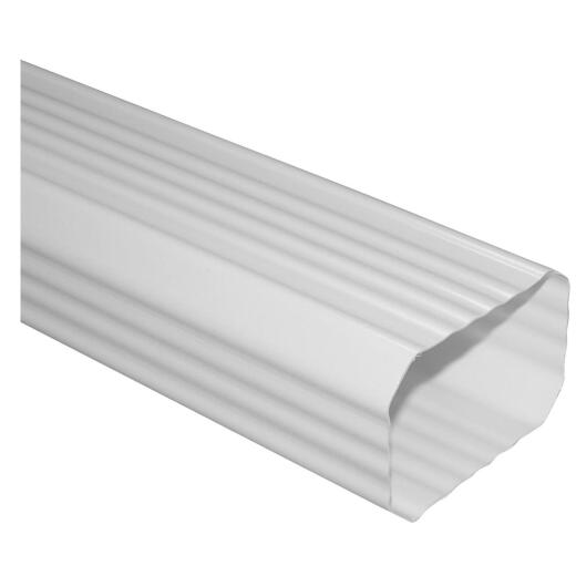 Repla K 2 In. x 3 In. White Vinyl Downspout
