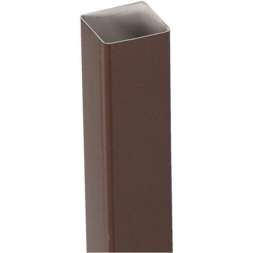 Amerimax 2 In. Square x 10 Ft. Brown Vinyl Downspout