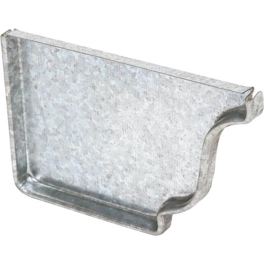 Amerimax 5 In. Galvanized Left Gutter End Cap