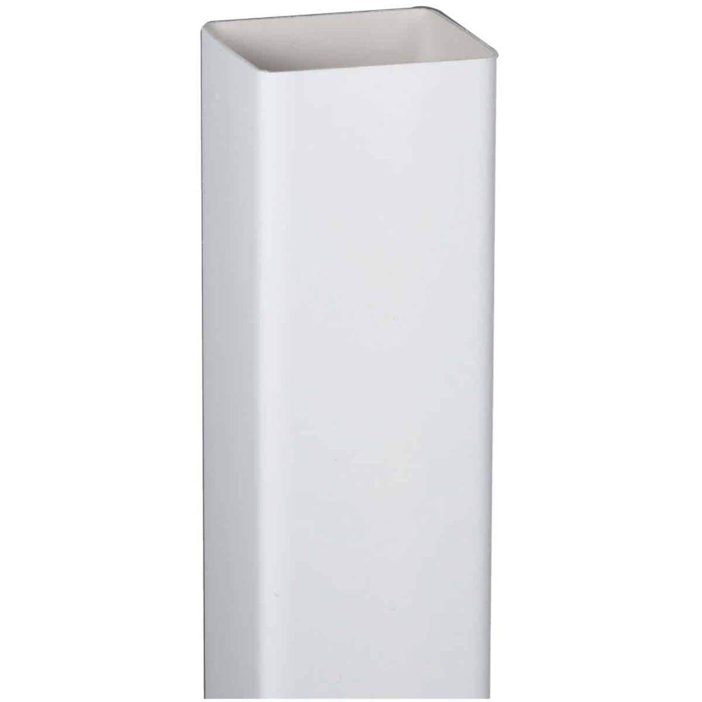 Amerimax 2 In. Square x 10 Ft. White Vinyl Downspout Image 1