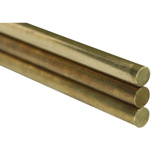 K&S 3/64 In. x 12 In. Solid Brass Rod (4-Count)