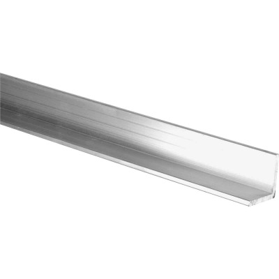 HILLMAN Steelworks Mill 1-1/4 In. x 4 Ft. Aluminum Solid Angle