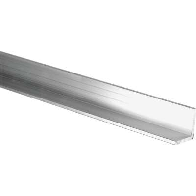 HILLMAN Steelworks Mill 1-1/2 In. x 8 Ft., 1/16 In. Aluminum Solid Angle
