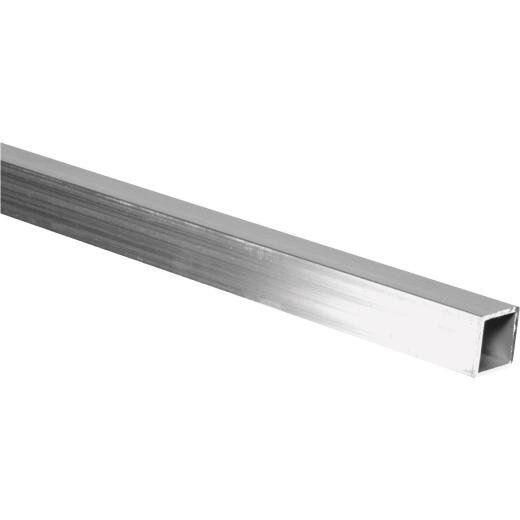 HILLMAN Steelworks 1 In. x 8 Ft. x 1/16 In. Aluminum Square Tube